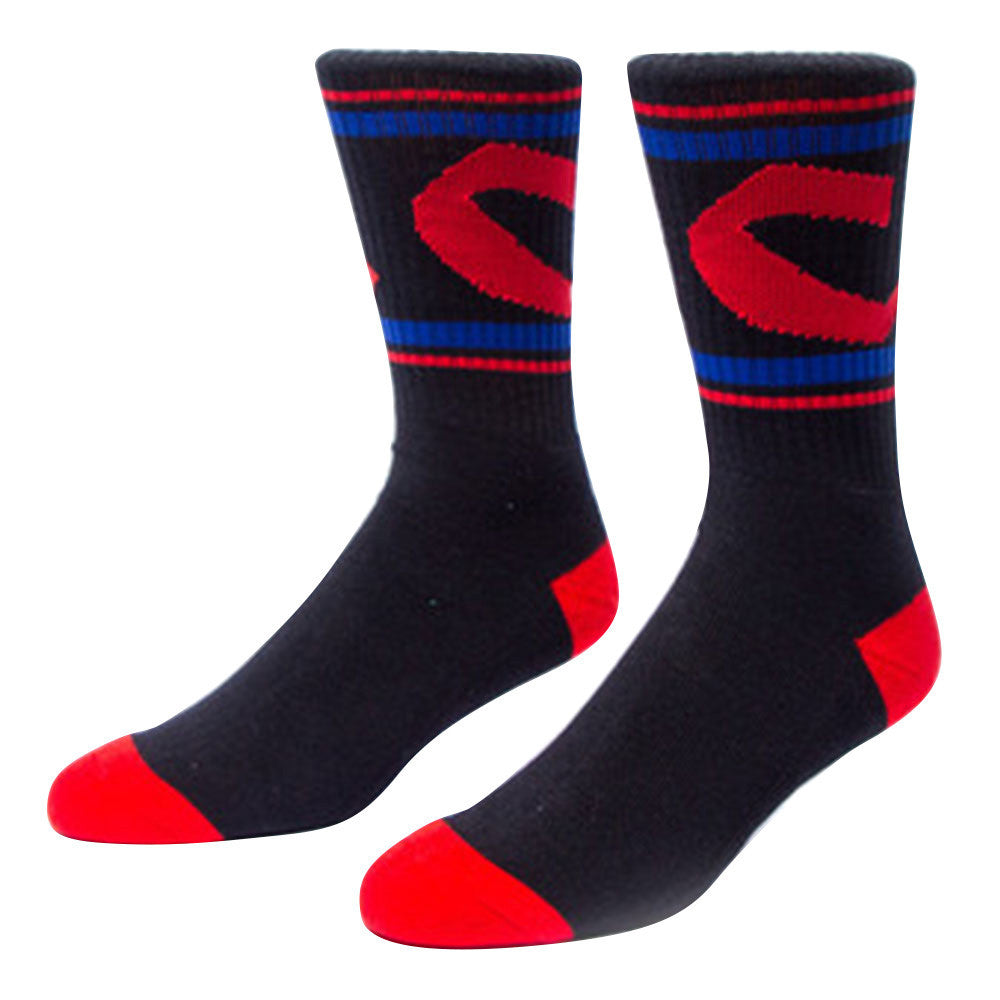 Chocolate Chunk C Stripe Men's Socks - Black (1 Pair)