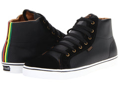 DVS Luster High Men's Skateboard Shoes - Black Leather Cinelli 002