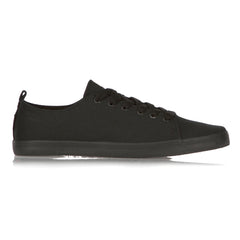 DVS Rehab Men's Skateboard Shoes - Black Canvas BTS