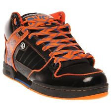 DVS Militia Mid Skateboard Shoes - Black/Orange/Blue