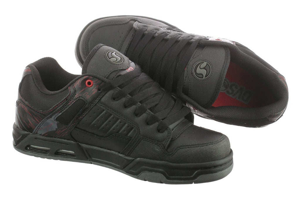 DVS Enduro Heir Men's Skateboard Shoes - Black Leather 062