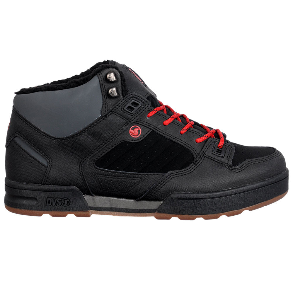 DVS Militia Boot Skateboard Shoes - Black/Gunny Snow 006