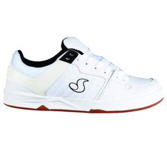 DVS Argon Skateboard Shoes - White/Black 100