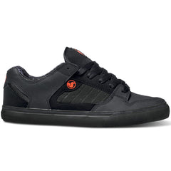 DVS Militia CT Skateboard Shoes - Black/Red Nubuck 012