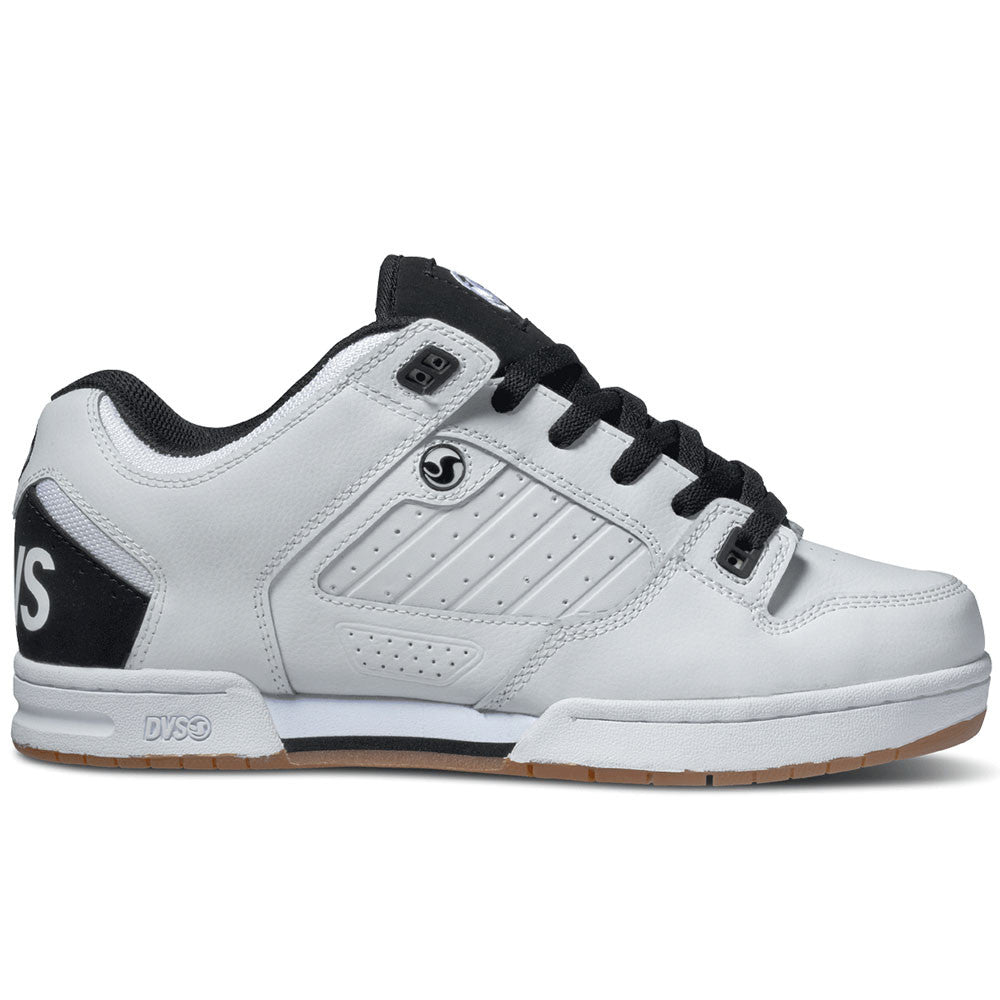 DVS Militia Skateboard Shoes - White/White/Black 105