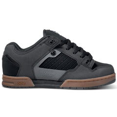 DVS Militia Skateboard Shoes - Black Gunny Nubuck 964
