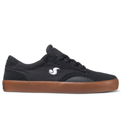 DVS Daewon 14 Skateboard Shoes - Black/Gum Suede Canvas 005