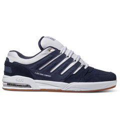 DVS Tycho Skateboard Shoes - Navy/White/Gum Suede 400