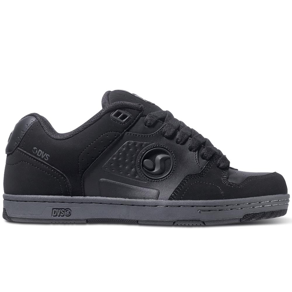 DVS Discord Skateboard Shoes - Black/Grey Trubuck 007