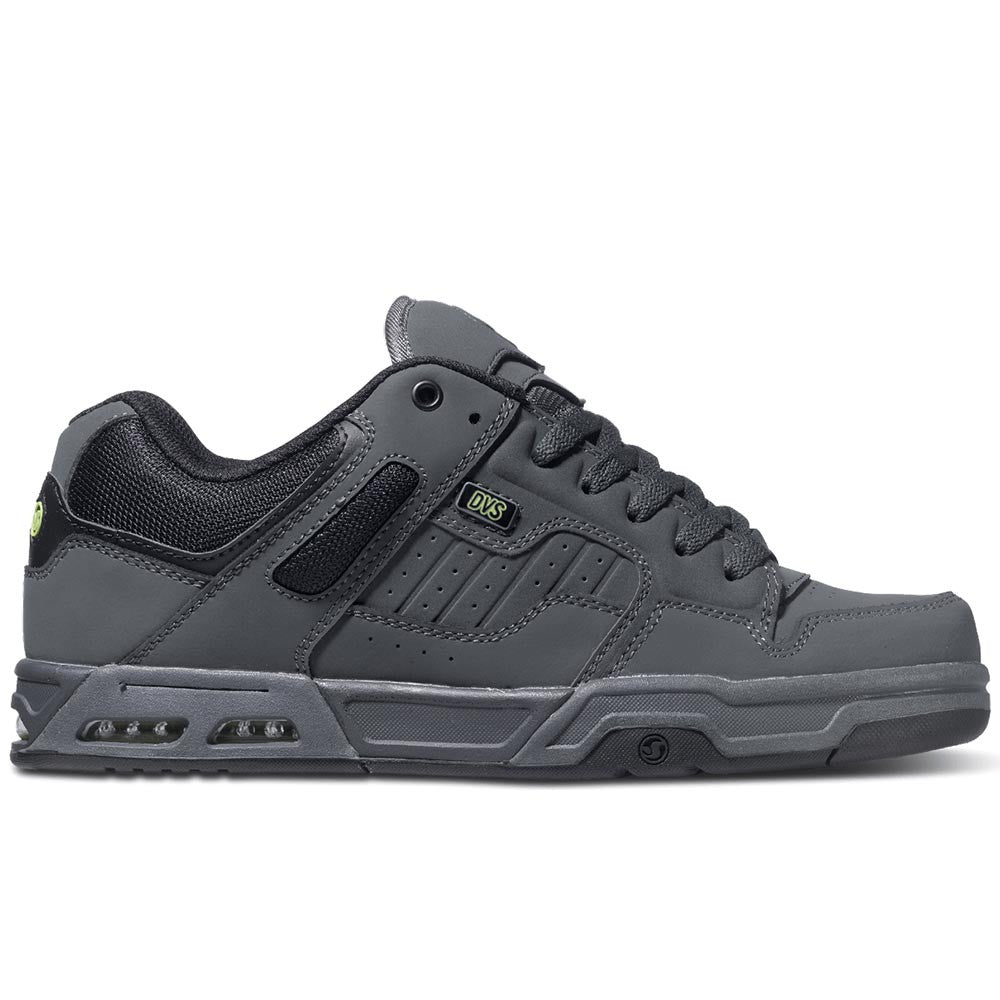 DVS Enduro Heir Skateboard Shoes - Grey/Black/Lime Trubuck 021