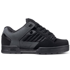 DVS Militia Snow Skateboard Shoes - Black/Grey/Black Trubuck 966