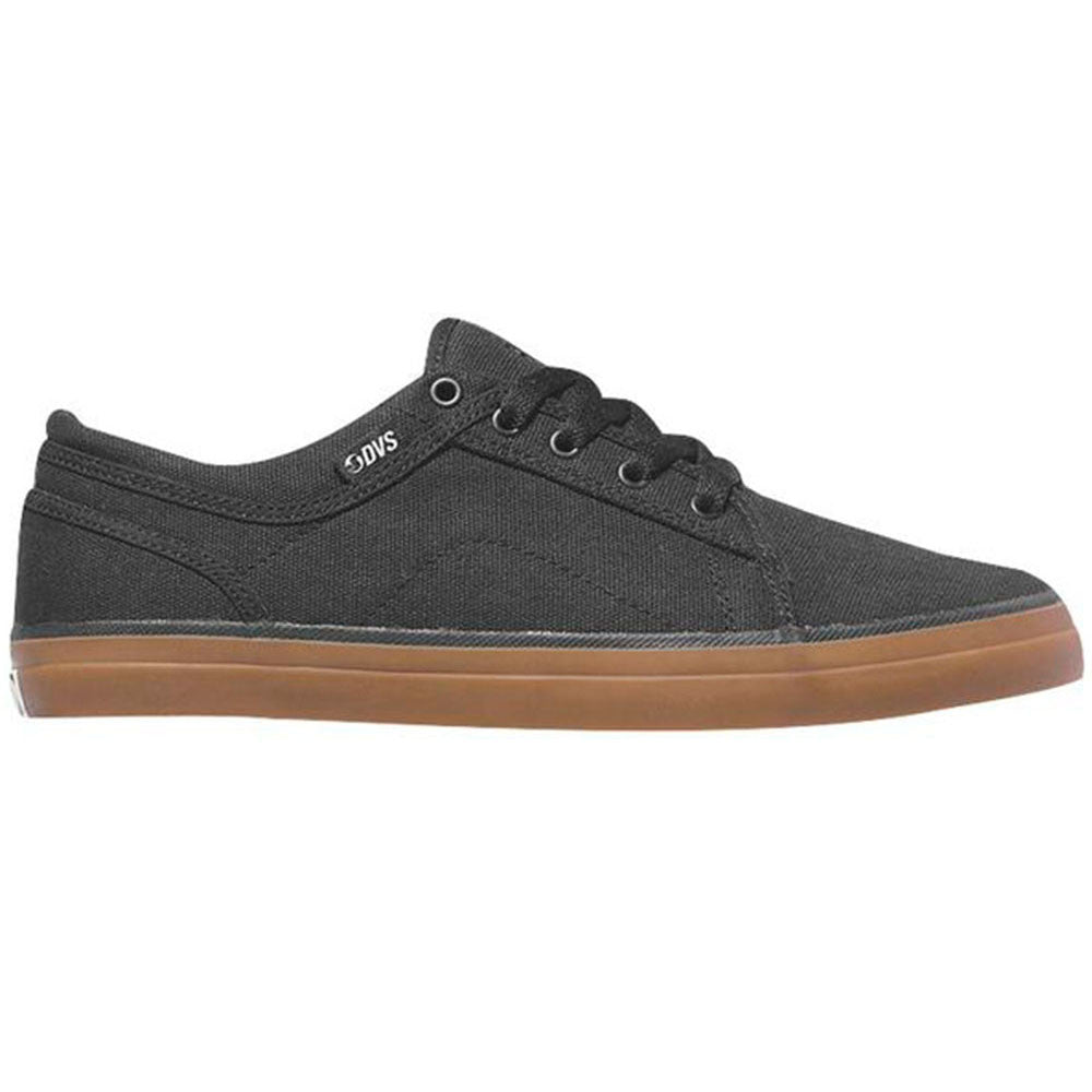 DVS Aversa Skateboard Shoes - Black/Gum Canvas Textile 002