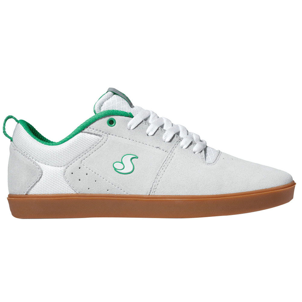 DVS Nica Skateboard Shoes - White Suede 100