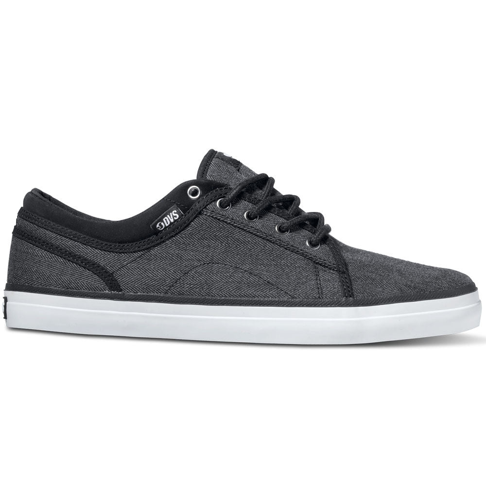 DVS Aversa Skateboard Shoes - Black Herringbone 005