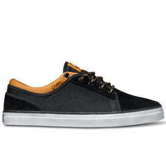 DVS Aversa Skateboard Shoes - Black/Tan Suede 009