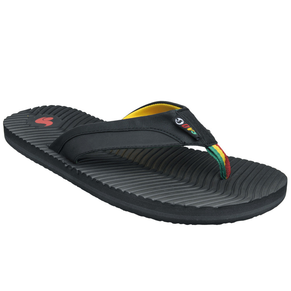 DVS Rincon Sandals - Black/Rasta 001