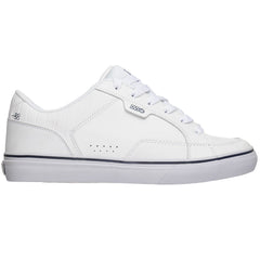 DVS Carson Men's Skateboard Shoes - White Leather