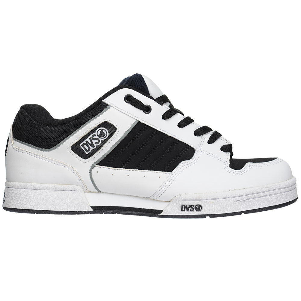DVS Durham Men's Skateboard Shoes - Black/White Leather