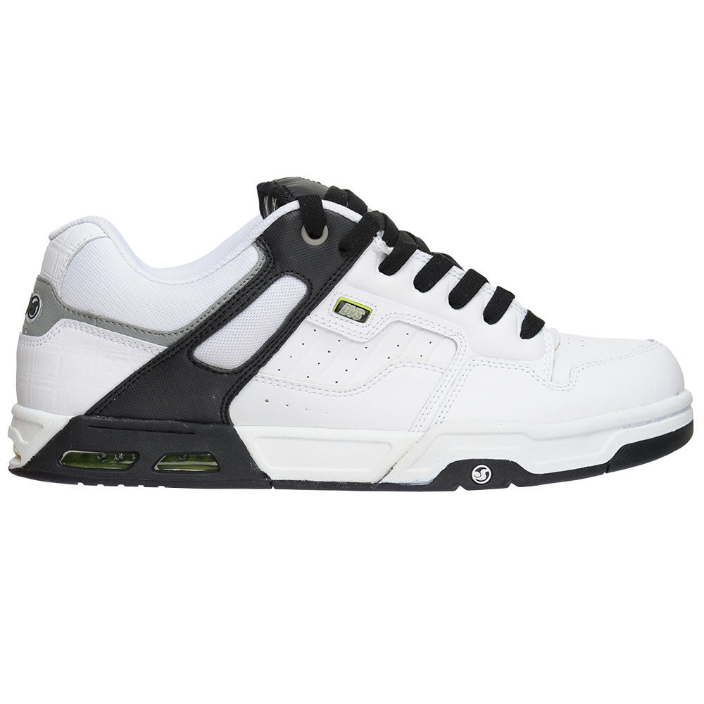 DVS Enduro Heir Men's Skateboard Shoes - White/Black Action Leather