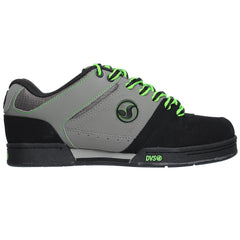 DVS Rectifier Men's Skateboard Shoes - Black/Grey/Lime Leather
