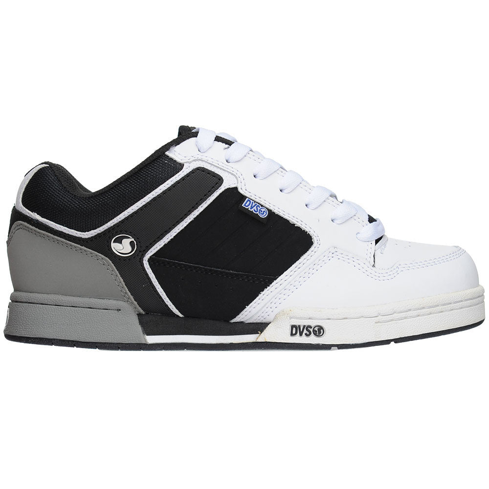 DVS Transom Men's Skateboard Shoes - White/Black Leather