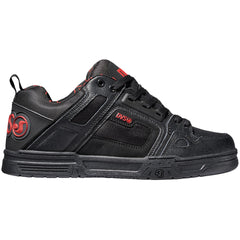 DVS Comanche Men's Skateboard Shoes - Black/Red/Black 964