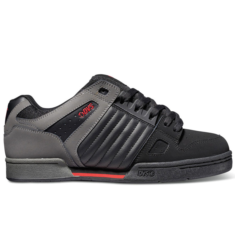 DVS Celsius Men's Skateboard Shoes - Black/Grey/Red 008