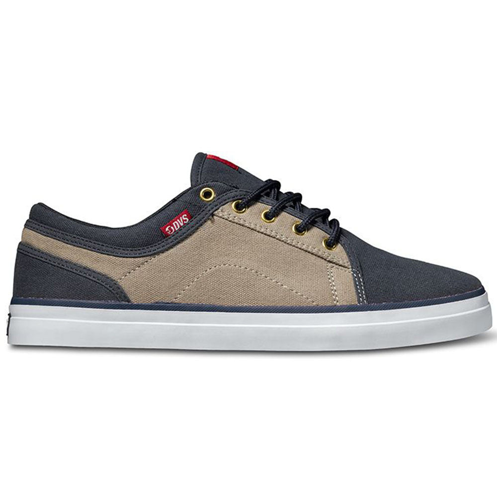 DVS Aversa Men's Skateboard Shoes - Navy/Tan Canvas 412