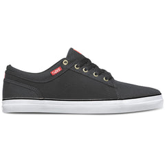 DVS Aversa Men's Skateboard Shoes - Black/Red Canvas 004