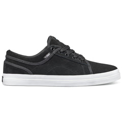DVS Aversa Men's Skateboard Shoes - Black/White Suede 012