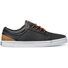 DVS Aversa Men's Skateboard Shoes - Black/Brown Canvas 962
