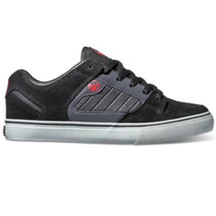 DVS Militia CT Men's Skateboard Shoes - Black/Grey/Red Suede 018