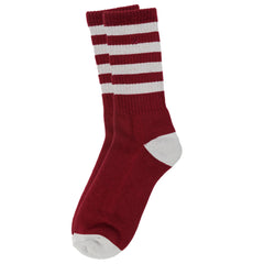 Dekline Army Men's Socks - Burgundy/Grey (1 Pair)