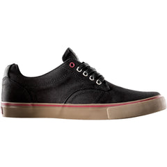 Dekline TimTim Skateboard Shoes - Black/Gum Waxed Canvas