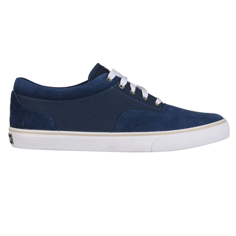 Dekline Keaton Skateboard Shoes - Navy/White Canvas