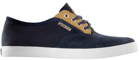 Dekline Daily Skateboard Shoes - Midnight/Wheat Suede