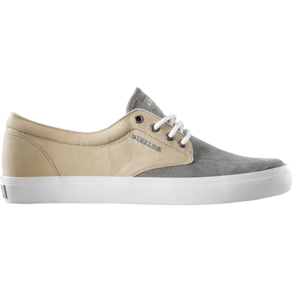 Dekline Mason Skateboard Shoes - Grey/Sand Suede Canvas