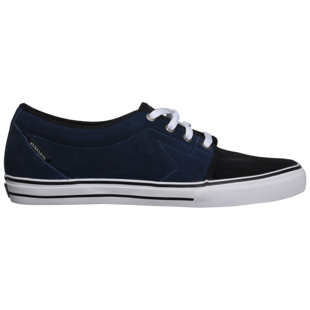 Dekline Blye Skateboard Shoes - Navy/Black 2 Tone Suede