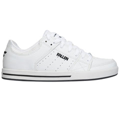 Fallen Chris Cole Trooper SL Men's Skateboard Shoes - White/Black