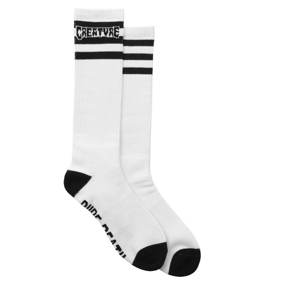 Creature Pure Death Men's Socks - White (2 Pairs)