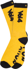 Vol 4 Rock N' Roll Men's Socks - Yellow/Black (1 Pair)
