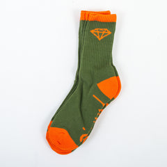 Diamond OG High Cut Men's Socks - Army/Orange (3 Pairs)