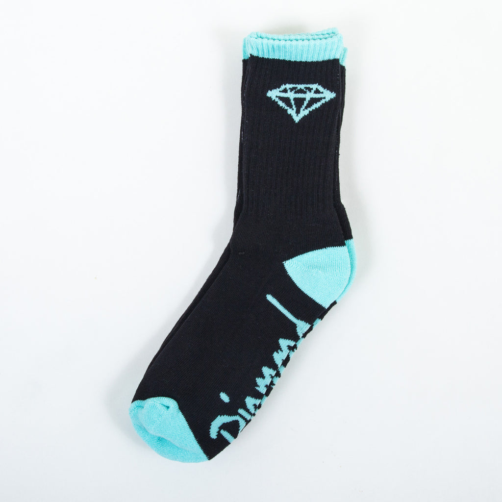 Diamond OG High Cut Men's Socks - Black/Diamond Blue (3 Pairs)