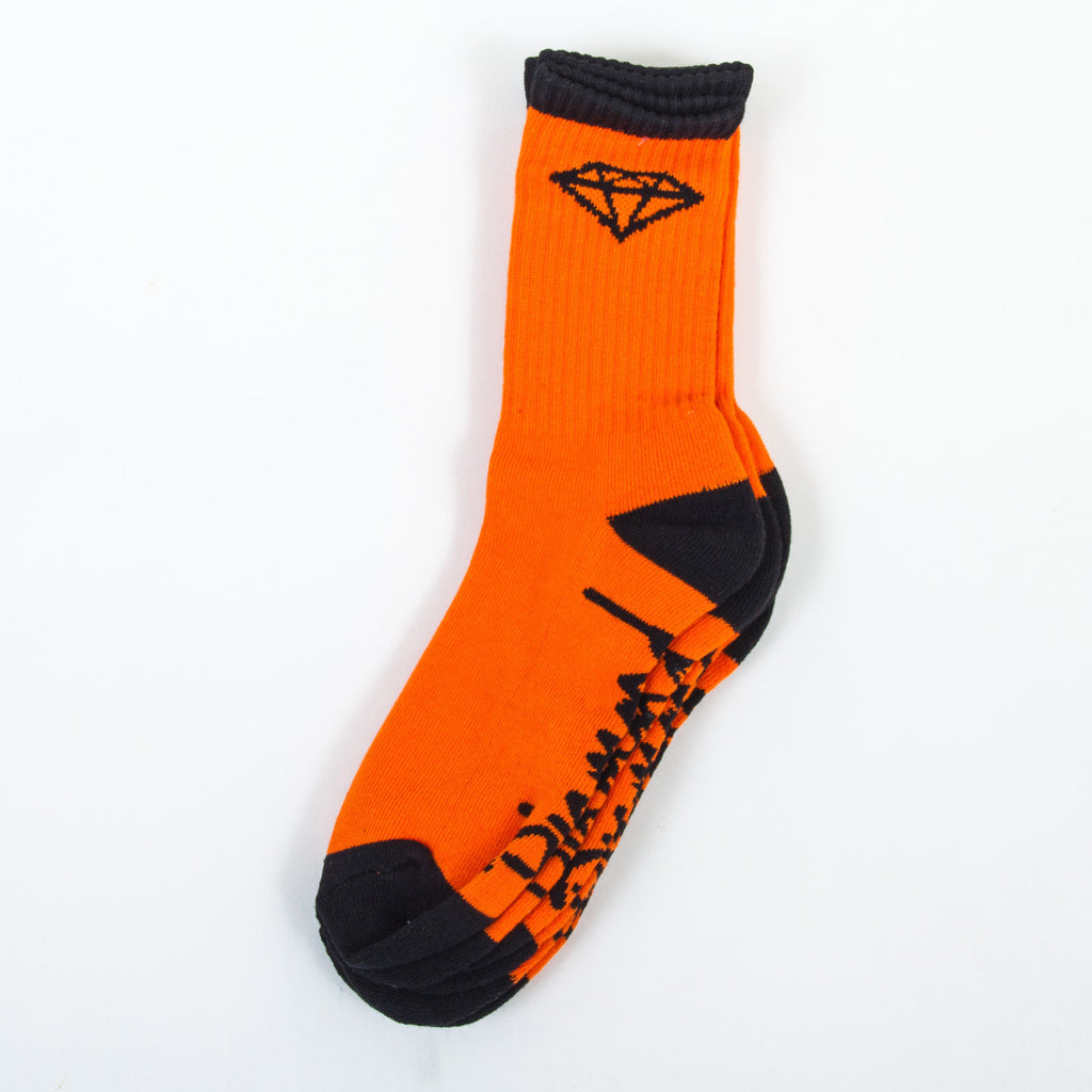 Diamond OG High Cut Men's Socks - Orange/Black (3 Pairs)