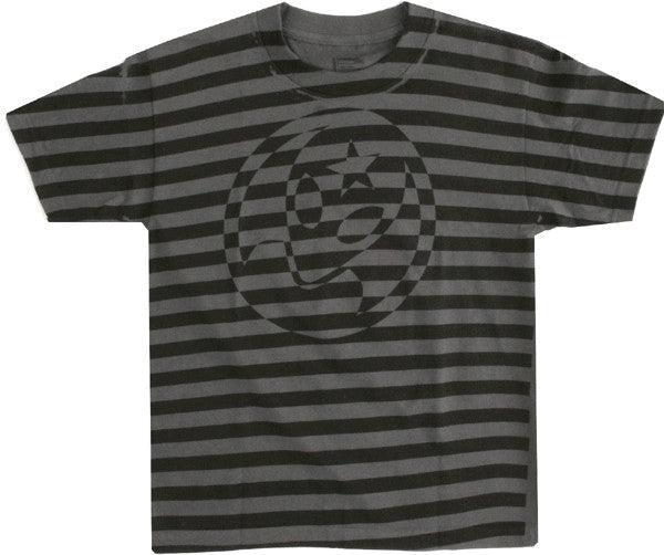 Alien Workshop Soldier Stripe All Over Print Youth Short Sleeve T-Shirt - Charcoal - Youth Medium