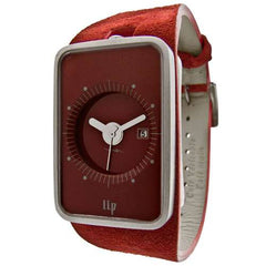 Lip Fridge Watch - Ruby Nubuck Red