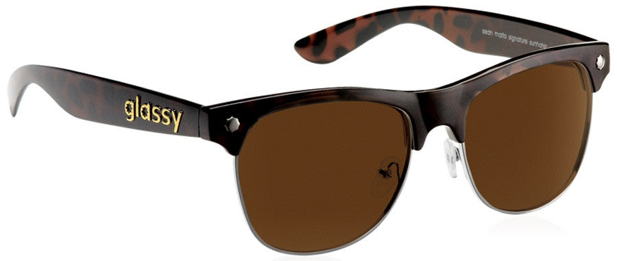 Glassy Sean Malto 2 Sunglasses - Brown Tortoise