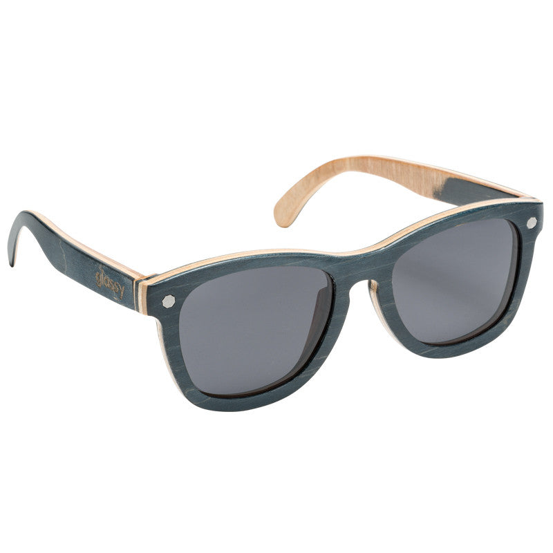 Glassy Deric Skateboard Frame Sunglasses - Wood
