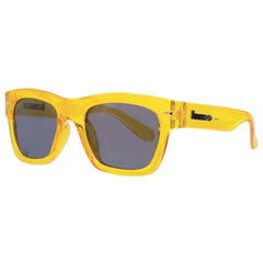 Brigada Big Shot Sunglasses - Clear/Yellow w/ Blue Mirrored Lens