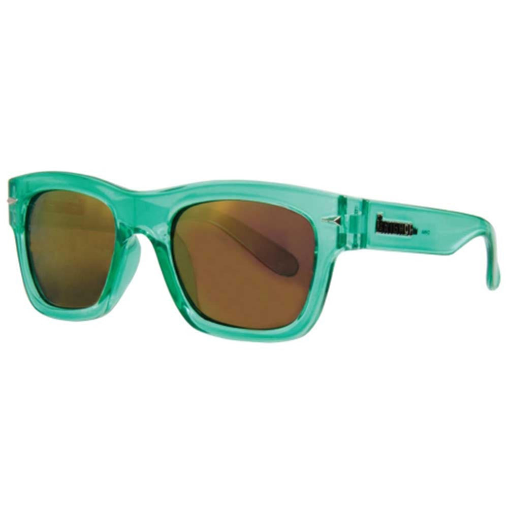 Brigada Big Shot Sunglasses - Clear/Mint w/ Pink Mirrored Lens